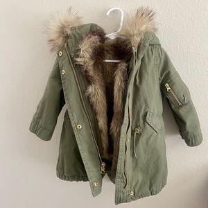 Gap 3-in-1 Parka Jacket with Detachable Fur Vest